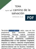 En El Camino de La Salvación