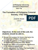 Formation of Colonial Society
