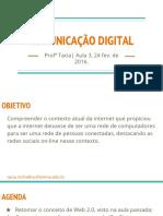 Comunicação Digital - Aula 3