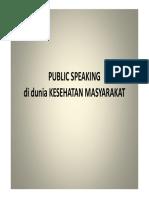 Public Speaking in Public Health
