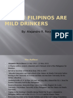 We the Filipinos Are Mild Drinkers