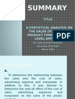 Statistics Powerpoint Presentation- Regression