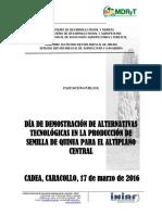 Día de Demostración de Alternativas Tecnológicas en La Producción de Semilla de Quinua Para El Altiplano Central-laquinua.blogspot.com