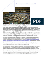 ISHR - UN General Assembly- Human Rights Resolutions Pass With Increased Support - 2015-07-20