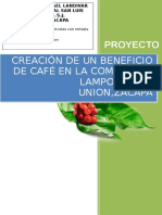 Creacion de Un Beneficio de Café