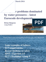 Simpson (2014) Design for Problems Dominated by Water Pressures - Latest Eurocode Developments