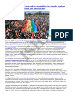 ISHR - States- Ensure Protection and Accountability for Attacks Against LGBTI Persons, Defenders and Associations - 2015-10-04