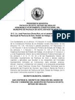 Bando de Policia y Gobierno de Pachuca