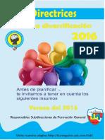 Directrices Para La Diversificación 2016