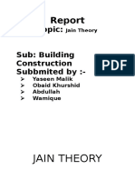 Report Jain Theory history of architecture