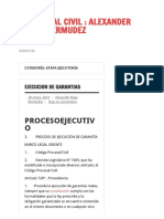 Etapa Ejecutoria _ Procesal Civil _ Alexander Rioja Bermudez