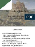 Çeviri Ve Çeviribilim Tarihi