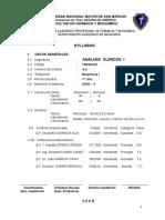 Analisis Clinicos I