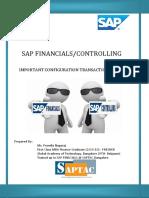 T-Codes FI-CO SAP