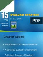 Pertemuan 15 Evaluasi Strategi