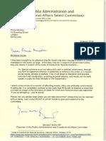 Bernard Jenkin letter to David Cameron