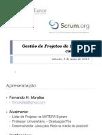 Gestão de Projetos de Software com Scrum - Apresentação.