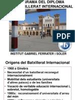 Projecte Batxillerat Internacional 2016