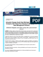 Schuette Charges South East Michigan Man and His Company With Thirty-Five Felonies in Mortgage and Debt Management Scheme