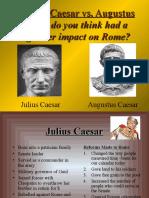 julius vs  augustus powerpoint