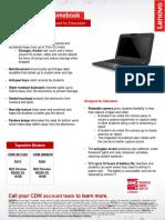 Lenovo N22 Chromebook Datasheet