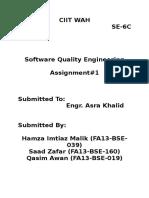 Software Quality Assurance basics