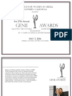 57th Annual GENII Awards Sponsor Packages