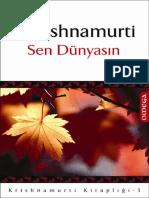 Jiddu Krishnamurti - Sen Dünyasın - (CS)