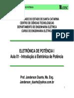EPO1 01 Introdu o a Eletr Nica de Pot Ncia