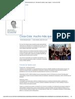 Coca-Cola - Responsabilidad Social - Alimentación, Bebidas, Hogar e Higiene - Compromiso RSE