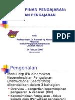 PROFESIONALISME GURU- KEPIMPINAN PENGAJARAN-PENYELIAAN PENGAJARAN