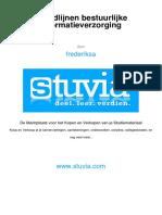 Stuvia 23hoofdlijnen bestuurlijke informatiesystemen