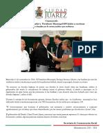 2014-11-12 Entregan Gobernador y  Presidente Municipal 600 títulos y escrituras Felicita a familias por la certeza jurídica que recibieron