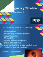 newpregnancy timeline