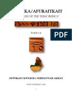 Afuraka-Afuraitkait the Origin of the Term Africa