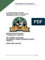 Sistema General de Recolección de Crudo y Gas y Arbolito de Producción