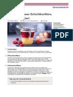Pfirsich Himbeer Schichtkonfituere Kalorienreduziert