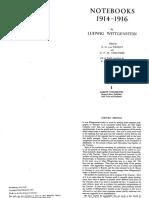 Wittgenstein  Notebooks 1914-1916