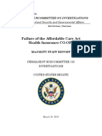 Senate PSI Majority Staff Report on ACA Co-Ops