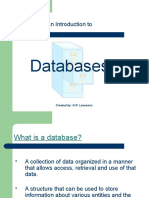 An Introduction to Databases