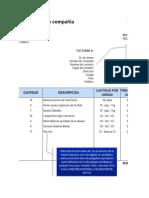 Practica 4 Excel Validacion de Datos Factura