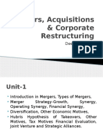 Mergers, Acquisitions & Corporate Restructuring