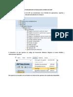 Colocar Textualmente la Transacción en Menú de SAP