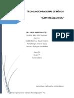 Protocolo de Investigación. Clima organizacional