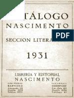 Catálogo Nascimento [1931]