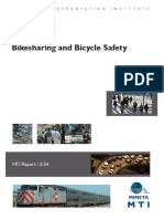 Mineta Transportation Institute's Bikesharing and Bicycle Safety Study