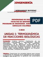 Unidad I - Termodinamica de Reacciones Biologicas