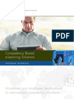 Competency Based E-Learning Solutions Brochure