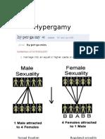 Hypergamy and SMV