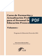 PREESCOLAR Curso Formaci+¦n Vol 1